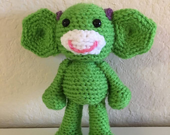 Cochlear Monkeys, Leg Brace Bears, Baha Bunnies And More Available At Becca's Crochet Studio OnEtsy